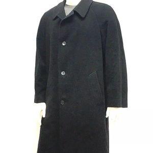 Bloomingdale' Men's Overcoat Size XL Black Italy